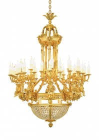 Mẫu sản phẩm đèn chùm đồng mạ vàng iran 113