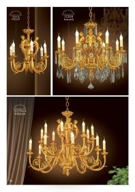 Mẫu sản phẩm đèn chùm đồng mạ vàng iran 33