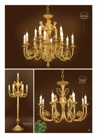 Mẫu sản phẩm đèn chùm đồng mạ vàng iran 34