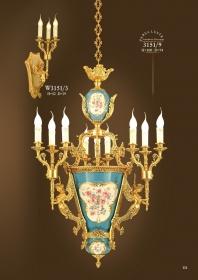 Mẫu sản phẩm đèn chùm đồng mạ vàng iran W3151