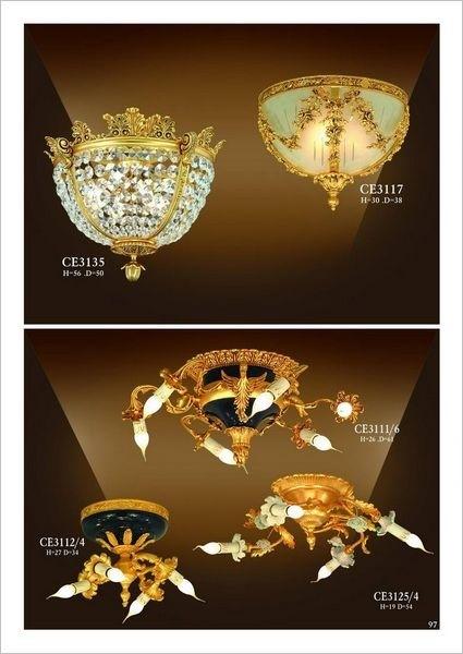 Đèn trần mạ vàng CE