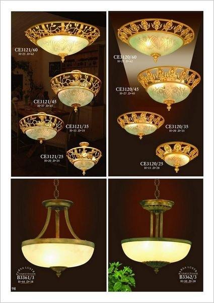Đèn trần mạ vàng CE-B