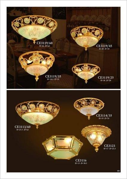 Đèn trần mạ vàng