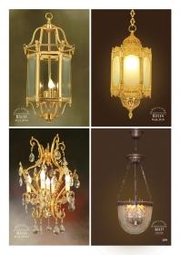 Mẫu sản phẩm đèn chùm đồng mạ vàng iran 103