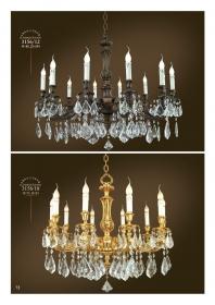 Mẫu sản phẩm đèn chùm đồng mạ vàng iran 11