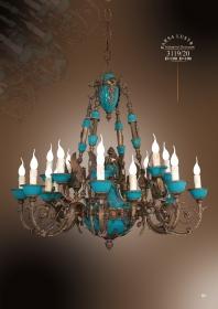 Mẫu sản phẩm đèn chùm đồng mạ vàng iran 3119/20