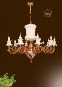 Mẫu sản phẩm đèn chùm đồng mạ vàng iran 3195/10