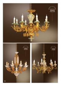 Mẫu sản phẩm đèn chùm đồng mạ vàng iran 4104/8