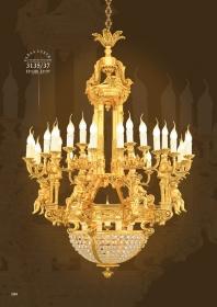 Mẫu sản phẩm đèn chùm đồng mạ vàng iran 3135/37