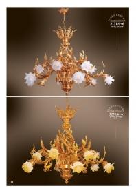 Mẫu sản phẩm đèn chùm đồng mạ vàng iran 3131/6+6