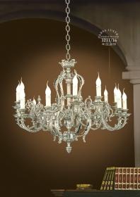 Mẫu sản phẩm đèn chùm đồng mạ vàng iran 65