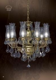 Mẫu sản phẩm đèn chùm đồng mạ vàng iran 7