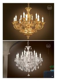 Mẫu sản phẩm đèn chùm đồng mạ vàng iran 8