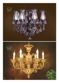 Mẫu sản phẩm đèn chùm đồng mạ vàng iran 9