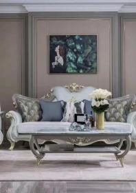 Bộ Sofa da SF09blue