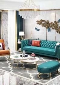 Bộ Sofa da SF03jadegreen